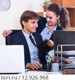 Купить «Sexual harassment in office», фото № 12926968, снято 13 июля 2018 г. (c) Яков Филимонов / Фотобанк Лори