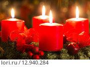 christmas xmas candles candlelight advent. Стоковое фото, фотограф Cornelia Pithart / PantherMedia / Фотобанк Лори