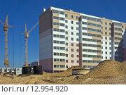 Строительство жилых домов. Стоковое фото, фотограф Игорь Яковлев / Фотобанк Лори