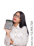 Купить «Young woman in business concept», фото № 12955724, снято 11 августа 2015 г. (c) Elnur / Фотобанк Лори