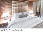 Купить «Hotel room with modern interior», фото № 12956936, снято 20 июня 2015 г. (c) Elnur / Фотобанк Лори