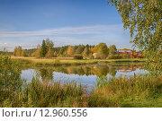 Купить «Подмосковный пейзаж», фото № 12960556, снято 20 сентября 2015 г. (c) Алексей Назаров / Фотобанк Лори
