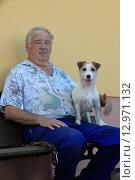 Купить «senior dog seniors pensioner terrier», фото № 12971132, снято 15 сентября 2019 г. (c) PantherMedia / Фотобанк Лори