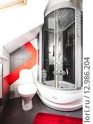 Купить «Интерьер ванной комнаты», фото № 12986204, снято 25 марта 2015 г. (c) Darja Vorontsova / Фотобанк Лори