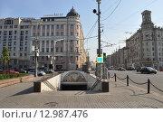 Москва, Тверская улица (2015 год). Редакционное фото, фотограф Игорь Разумов / Фотобанк Лори