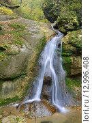 Горный водопад. Стоковое фото, фотограф Станислав Самойлик / Фотобанк Лори