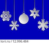 Синий новогодний фон, вектор. Стоковая иллюстрация, иллюстратор Мастепанов Павел / Фотобанк Лори