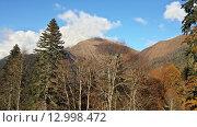 Купить «Осень в горах Кавказа, Красная Поляна», фото № 12998472, снято 28 октября 2015 г. (c) DiS / Фотобанк Лори