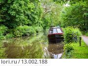 Купить «Лодка на канале. Оксфорд, Англия», фото № 13002188, снято 19 июня 2013 г. (c) Andrei Nekrassov / Фотобанк Лори