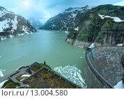 The Grimsel Pass summer landscape with lake (Switzerland). Стоковое фото, фотограф Юрий Брыкайло / Фотобанк Лори