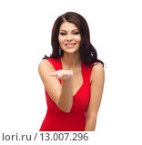 Купить «beautiful sexy woman in red dress», фото № 13007296, снято 25 сентября 2015 г. (c) Syda Productions / Фотобанк Лори