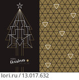 Купить «Merry christmas new year art deco set holiday card», иллюстрация № 13017632 (c) PantherMedia / Фотобанк Лори