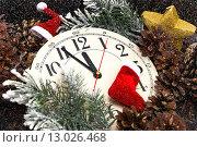 Без пяти двенадцать. Новогодняя композиция. Стоковое фото, фотограф Наталья Осипова / Фотобанк Лори