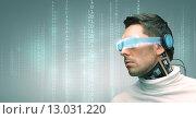 Купить «man with futuristic glasses and sensors», фото № 13031220, снято 17 ноября 2012 г. (c) Syda Productions / Фотобанк Лори
