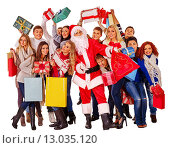 Купить «Group people and Santa.», фото № 13035120, снято 7 ноября 2012 г. (c) Gennadiy Poznyakov / Фотобанк Лори