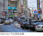 Купить «Улица Большая Дмитровка в Москве», эксклюзивное фото № 13043648, снято 23 февраля 2010 г. (c) lana1501 / Фотобанк Лори