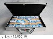 Купить «Чемодан с деньгами», фото № 13050104, снято 29 сентября 2005 г. (c) михаил красильников / Фотобанк Лори