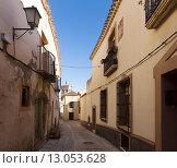 Old street in european city. Chinchilla de Monte-Aragon (2014 год). Стоковое фото, фотограф Яков Филимонов / Фотобанк Лори
