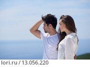 Купить «happy young romantic couple have fun arelax  relax at home», фото № 13056220, снято 5 апреля 2020 г. (c) PantherMedia / Фотобанк Лори
