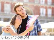 Купить «Couple suffering summer heat», фото № 13060044, снято 22 мая 2018 г. (c) PantherMedia / Фотобанк Лори