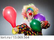 Купить «Funny clown in comical concept», фото № 13069564, снято 1 июля 2015 г. (c) Elnur / Фотобанк Лори