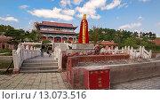 Китай, Хуньчунь. Буддийский монастырь. (2013 год). Стоковое фото, фотограф Евгений Захаров / Фотобанк Лори