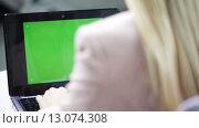Купить «businesswoman with laptop typing at office», видеоролик № 13074308, снято 8 ноября 2015 г. (c) Syda Productions / Фотобанк Лори