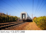 Купить «Уезжающий поезд», фото № 13077348, снято 25 февраля 2020 г. (c) Светлана Кузнецова / Фотобанк Лори