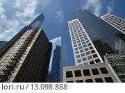 Нью-Йорк. Вид снизу на небоскребы Манхэттена (2015 год). Стоковое фото, фотограф Дмитрий Муромцев / Фотобанк Лори