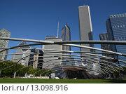 Чикаго. Павильон Джея Прицкера в Миллениум парке (2015 год). Редакционное фото, фотограф Дмитрий Муромцев / Фотобанк Лори
