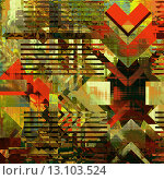 Купить «art abstract colorful geometric pattern; acrylic background in gold, olive, green, red and black colors», фото № 13103524, снято 20 июня 2018 г. (c) Ingram Publishing / Фотобанк Лори