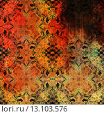 Купить «art abstract acrylic and pencil vibrant colorful background with damask pattern in red, yellow, brown and black colors», фото № 13103576, снято 21 ноября 2019 г. (c) Ingram Publishing / Фотобанк Лори