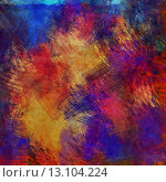 art abstract colorful acrylic and pencil background in orange, blue, red and violet colors. Стоковое фото, агентство Ingram Publishing / Фотобанк Лори