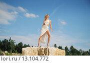 Купить «Wonderful woman taking the sunbath», фото № 13104772, снято 13 июля 2014 г. (c) Ingram Publishing / Фотобанк Лори
