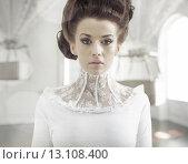Купить «Fine art photo of a young fashion lady in a stylish interior», фото № 13108400, снято 20 февраля 2019 г. (c) Ingram Publishing / Фотобанк Лори