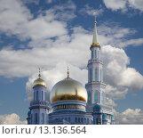 Купить «Московская соборная мечеть, Москва», фото № 13136564, снято 6 ноября 2015 г. (c) Владимир Журавлев / Фотобанк Лори