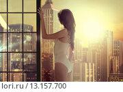 Купить «Sexy brunette woman posing in lingerie», фото № 13157700, снято 21 апреля 2019 г. (c) Ingram Publishing / Фотобанк Лори