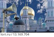 Купить «Московская соборная мечеть, Москва», фото № 13169704, снято 6 ноября 2015 г. (c) Владимир Журавлев / Фотобанк Лори