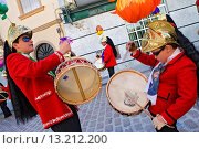 Купить «Judios colinegros Black-tailed Jews  Holy Week procession Baena  Córdoba province  Spain», фото № 13212200, снято 24 февраля 2020 г. (c) age Fotostock / Фотобанк Лори