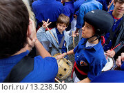 Купить «Drummers of Capgrossos de Mataró Musicians ´Castellers´ is a Catalan tradition Fires i festes de Sant Narcis Plaça del Vi Girona Spain», фото № 13238500, снято 24 февраля 2020 г. (c) age Fotostock / Фотобанк Лори
