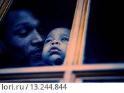 Купить «Father and Son Looking out Window», фото № 13244844, снято 4 июля 2020 г. (c) age Fotostock / Фотобанк Лори