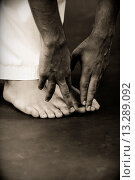 Купить «Portrait of man. Taekwondo fighter.», фото № 13289092, снято 18 января 2019 г. (c) age Fotostock / Фотобанк Лори