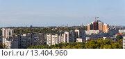 Купить «Панорама строительства Хабаровска», фото № 13404960, снято 9 сентября 2015 г. (c) Игорь Сарапулов / Фотобанк Лори