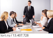 Купить «Business meeting of multinational managing team», фото № 13407728, снято 18 февраля 2019 г. (c) Яков Филимонов / Фотобанк Лори