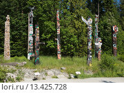 Купить «GROUP OF TOTEM POLES TOTEM PARK BROCKTON POINT STANLEY PARK VANCOUVER BRITISH COLUMBIA CANADA», фото № 13425728, снято 20 января 2019 г. (c) age Fotostock / Фотобанк Лори