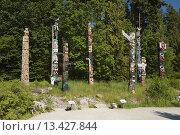 Купить «GROUP OF TOTEM POLES TOTEM PARK BROCKTON POINT STANLEY PARK VANCOUVER BRITISH COLUMBIA CANADA», фото № 13427844, снято 20 января 2019 г. (c) age Fotostock / Фотобанк Лори