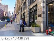 Купить «New York City, NY, USA, Students at New York University Campus,, in Greenwich Village Area, Manhattan», фото № 13438728, снято 20 ноября 2018 г. (c) age Fotostock / Фотобанк Лори