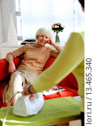 Купить «Woman ironing for of elderly woman at home.», фото № 13465340, снято 27 мая 2020 г. (c) age Fotostock / Фотобанк Лори