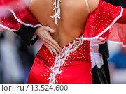 Купить «Couple at ballroom dancing at a dancing competition, Germany, Europe», фото № 13524600, снято 23 февраля 2019 г. (c) age Fotostock / Фотобанк Лори