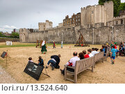 A view of the Tower of London, London, England, UK, Europe. Стоковое фото, фотограф Sebastian Wasek / age Fotostock / Фотобанк Лори